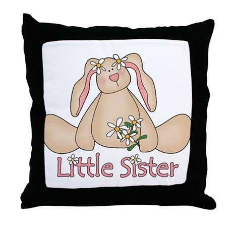 Daisy Bunny Little Sister Throw Pillow