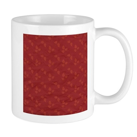 Triple Red Autumn Fall Season Leaves Pattern Mugs