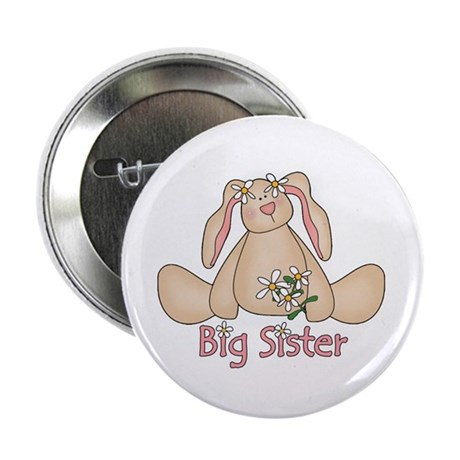 "Daisy Bunny Big Sister 2.25"" Button (10 pack)"