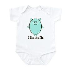 Cute Peace love bbq Infant Bodysuit