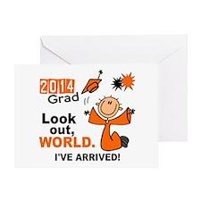 2014 Stick Grad 1.1 Orange Greeting Card