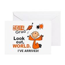 2014 Stick Grad 1.1 Oran Greeting Cards (Pk of 20)