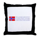 Trondheim, Norway Throw Pillow
