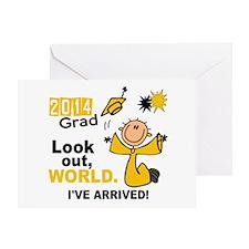 2014 Stick Grad 1.1 Gold Greeting Card