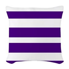 White And Purple Horizontal Stripes Woven Throw Pi