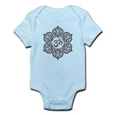 Gray Lotus Flower Yoga Om Body Suit