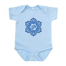 Blue Lotus Flower Yoga Om Body Suit
