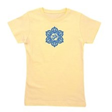 Blue Lotus Flower Yoga Om Girl's Tee