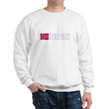 Bergen, Norway Flag II (Dark) Sweatshirt
