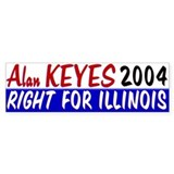 Alan Keyes for US Senate 2004 Bumper Bumper Sticker