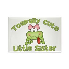 Toadally Cute Little Sister Rectangle Magnet (10 p