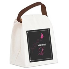 Custom Monogram Butterfly Canvas Lunch Bag