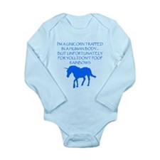 I Dont Poop Rainbows Body Suit
