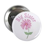 "Pink Daisy Big Sister 2.25"" Button (100 pack)"