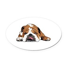 Unique English bulldogs Oval Car Magnet