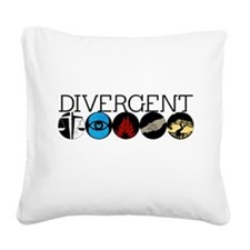 Divergent1 Square Canvas Pillow