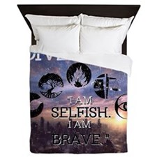 Selfish and Brave Queen Duvet