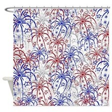 Fireworks Shower Curtain
