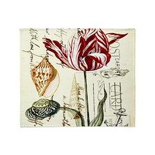 orchid french botanical art paris fashion Throw Bl