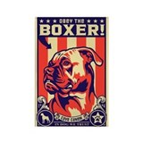 Obey the BOXER! USA Propaganda Magnet