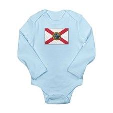 Flag of Florida Long Sleeve Infant Bodysuit