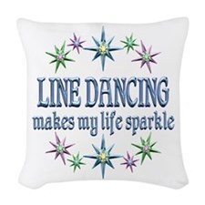 Line Dancing Sparkles Woven Throw Pillow