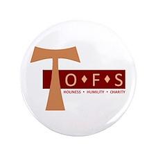 "OFS Secular Franciscan 3.5"" Button"