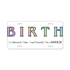 Cute Doulas Aluminum License Plate