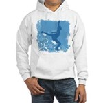 Floral Skater feeling Grungy Hooded Sweatshirt