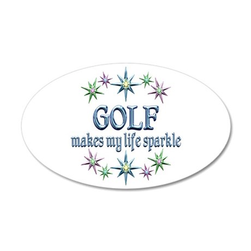 Golf Sparkles 35x21 Oval Wall Decal