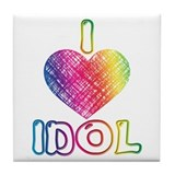 I Heart Idol Tile Coaster