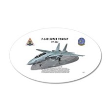 F-14D VF-124 on ramp Wall Decal