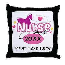 Personalized Nurse Graduation Throw Pillow