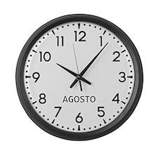 Agosto Newsroom Large Wall Clock