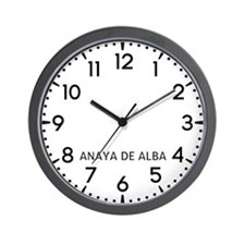 Anaya De Alba Newsroom Wall Clock