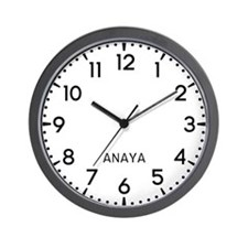 Anaya Newsroom Wall Clock