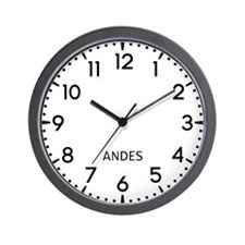 Andes Newsroom Wall Clock