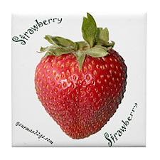 Strawberry Squared Tile Coaster