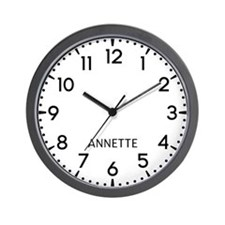 Annette Newsroom Wall Clock