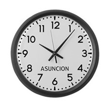 Asuncion Newsroom Large Wall Clock