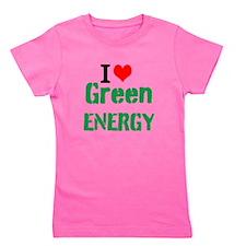 I Love Green Energy Girl's Tee