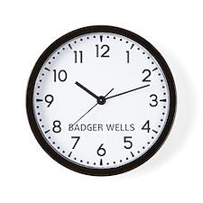 Badger Wells Newsroom Wall Clock