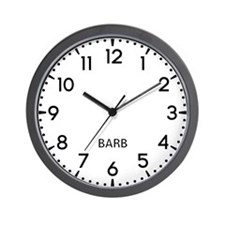 Barb Newsroom Wall Clock