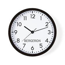 Bergeron Newsroom Wall Clock