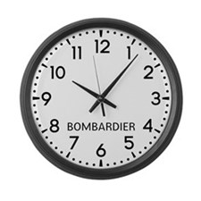 Bombardier Newsroom Large Wall Clock