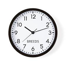 Breeds Newsroom Wall Clock