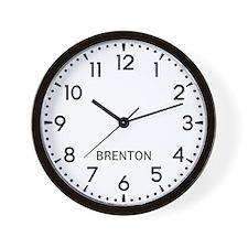 Brenton Newsroom Wall Clock