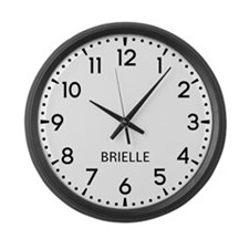 Brielle Newsroom Large Wall Clock