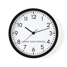 Candia Four Corners Newsroom Wall Clock