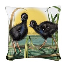 Puekeko Chicks Woven Throw Pillow